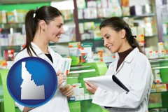 idaho two pharmacists in a drug store