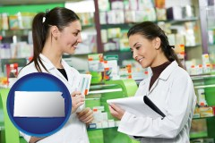 kansas two pharmacists in a drug store