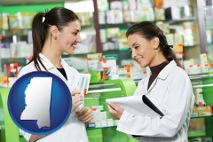 mississippi two pharmacists in a drug store