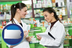 pennsylvania two pharmacists in a drug store